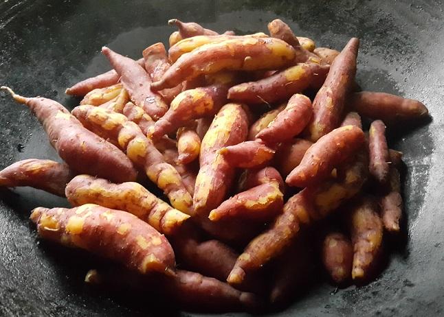 煮熟的番薯!